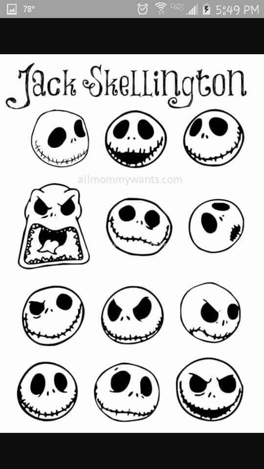 More jack faces nightmare before christmas obsession for Jack skellington face template