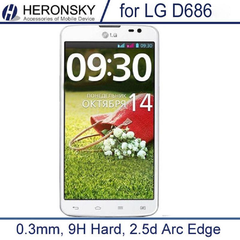 0.3mm vetro temperato per lg g pro lite dual d686 2.5d 9 h duro di alta protezione dello schermo trasparente con attrezzi puliti