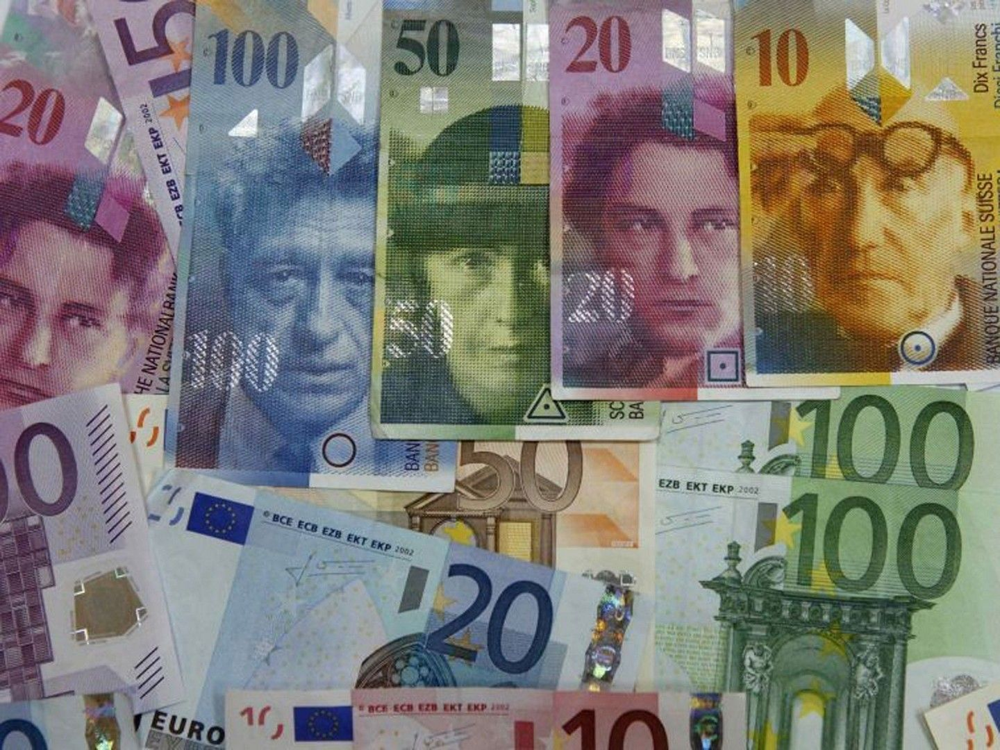 Swiss franc wallpaper