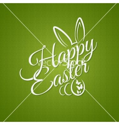 Easter vintage lettering design background vector - by Pushkarevskyy on VectorStock®