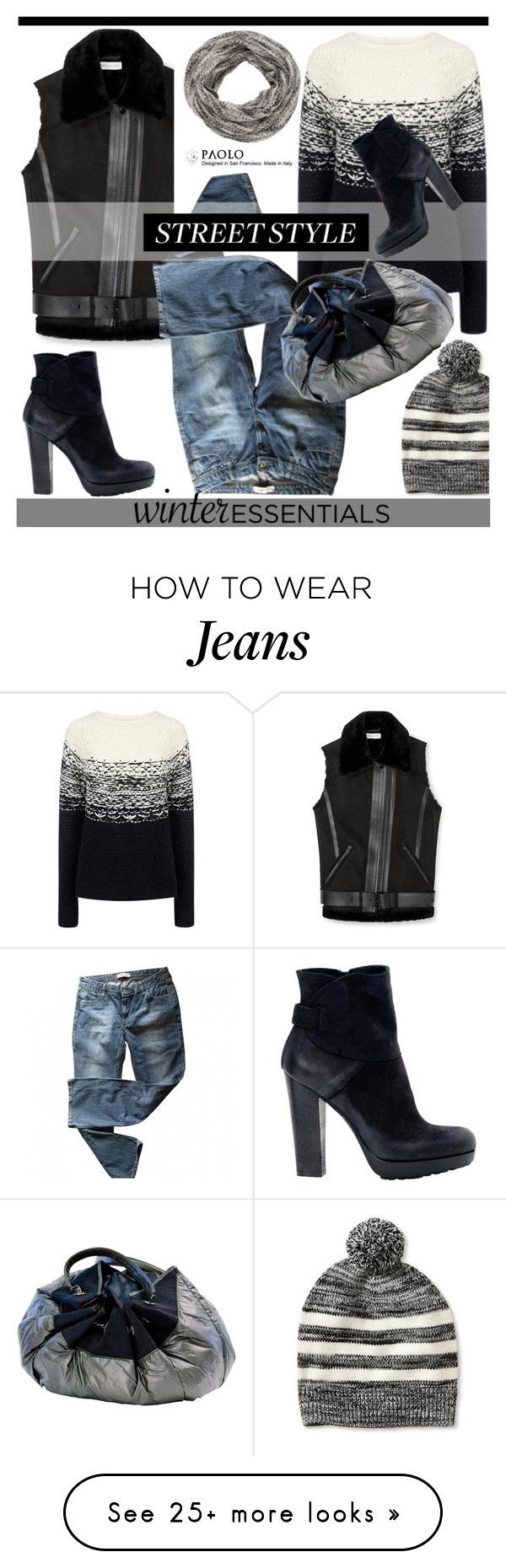 """""""Winter Essentials in PaoloShoes"""" by spenderellastyle on Polyvore featuring Rebecca Minkoff, Levi's, maurices, Banana Republic and Paul & Joe Sister"""