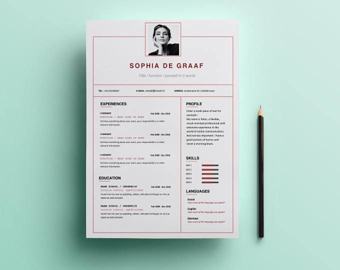 Lines \ Modern Resume Template HEYCV CV Template Professional - microsoft word resume template download