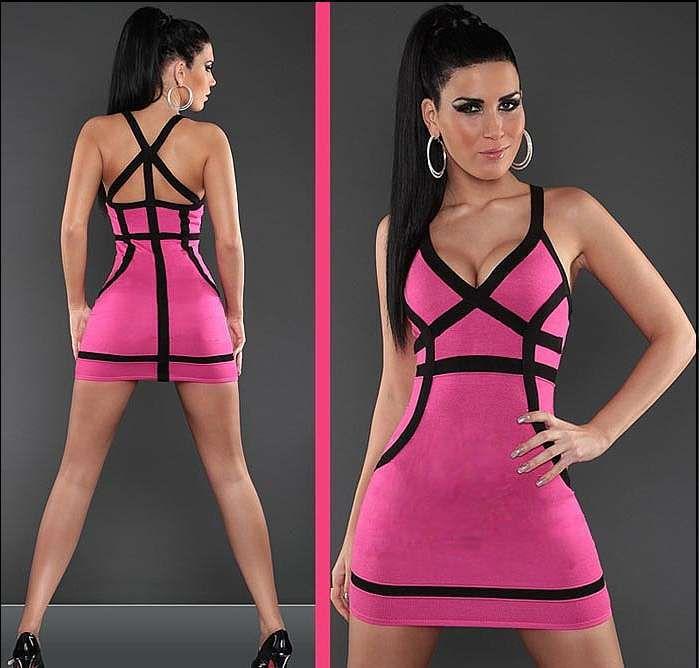 Sexys mini vestidos de fiesta color rosa http://vestidoparafiesta ...