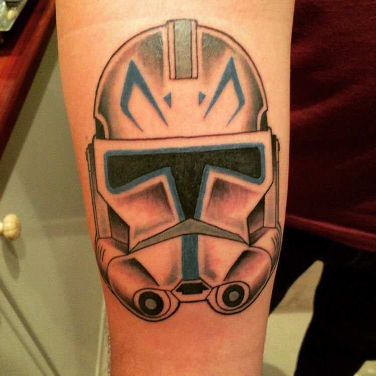 Clone trooper phase 2 helmet tattoo | Star Wars Tattoo | Pinterest