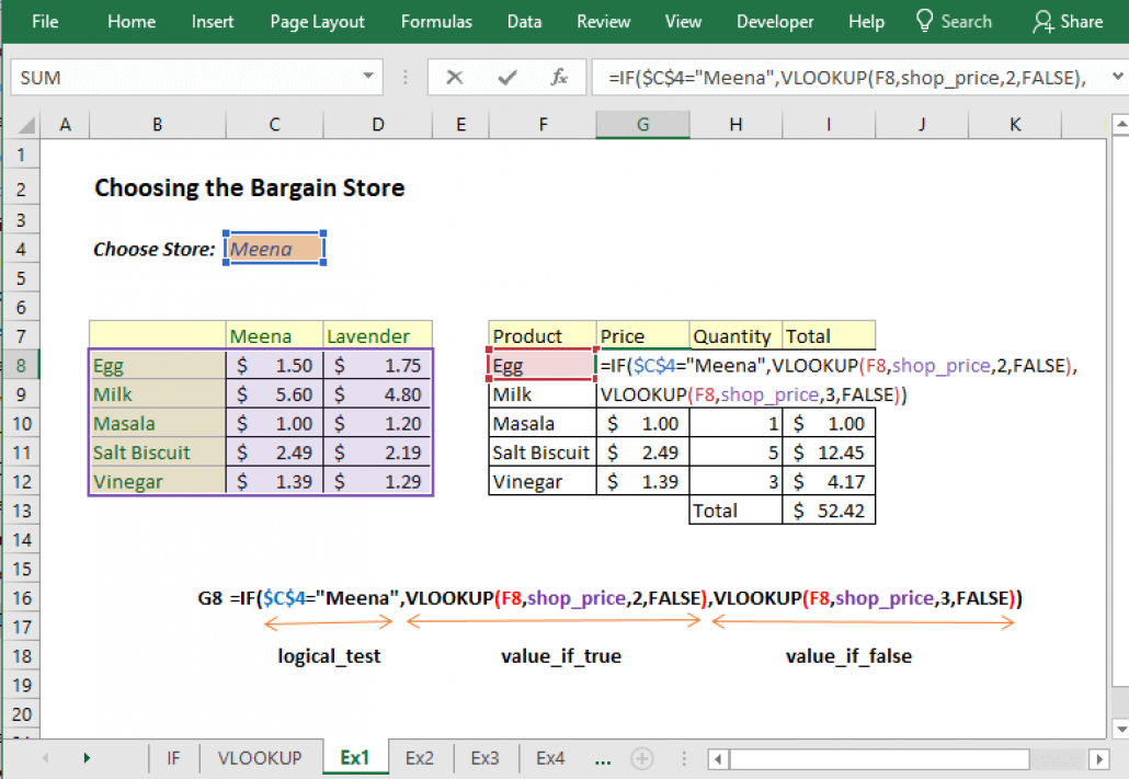 Vlookup With If Condition In Excel Example Excel Vlookup Excel Conditioner