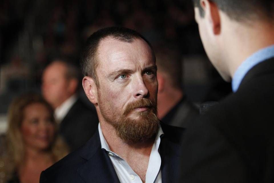 Toby Stephens attends the premiere of '13 Hours: The Secret Soldiers of Benghazi' at AT&T Stadium in Arlington, Texas, on Tuesday, Jan. 12, 2016 (photographed by Paul Moseley for the Star-Telegram).