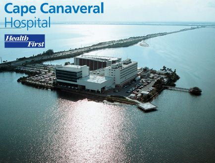 Cape Canaveral Hospital On The Minuteman Causeway Over The Banana River Brevard County Fl