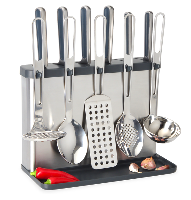 knife block utensil station universal expert by sebastian conran perforated flipper spatula. Black Bedroom Furniture Sets. Home Design Ideas