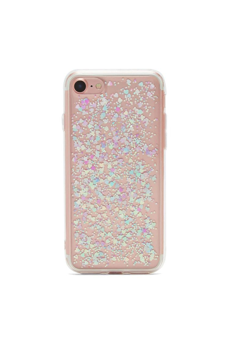 size 40 8cb36 0fbb6 A clear soft shell phone case featuring an assorted heart and ...