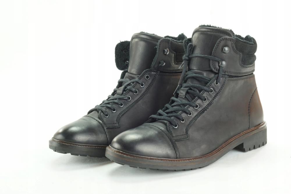 Zara Man Skorzane Buty Meskie Ocieplane R 43 2284 8380396872 Oficjalne Archiwum Allegro Boots Combat Boots Army Boot