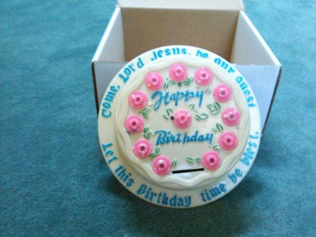 Plastic Birthday Cake Bank Sda Pinterest Birthday Cakes And Cake