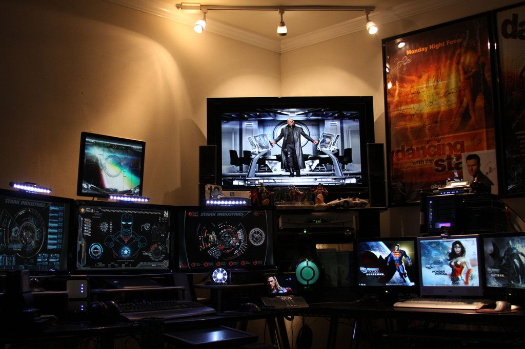 Man cave tony stark inspired man cave by edreyes on for Man cave desk