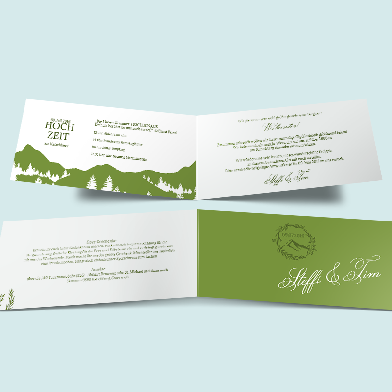 hochzeitseinladungen: gipfel des glücks. einladung zur hochzeit, Einladungsentwurf