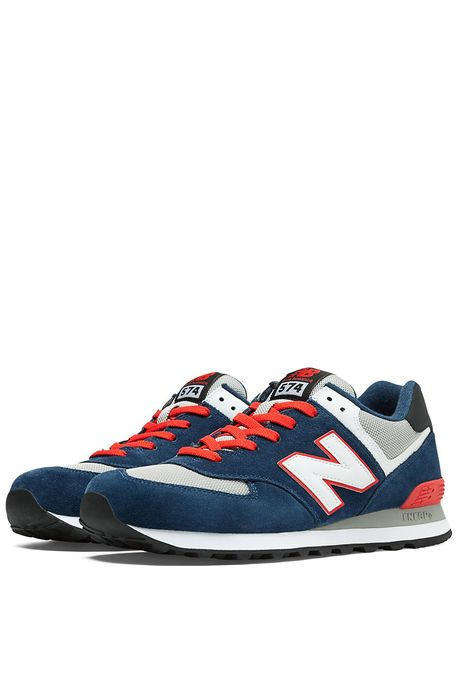 New Balance Shoes Core Plus 574 Sneaker in Navy & Red ...