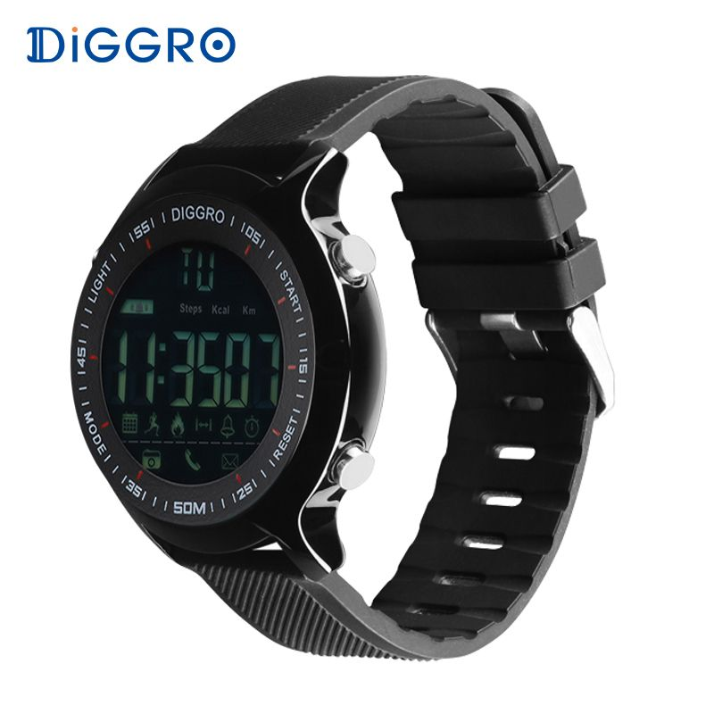 Diggro EX18 SmartWatch IP68 waterproof Bluetooth Remote Camera Message  reminder fitness tracker For Ios Android Phone 7d6d19628ee3a