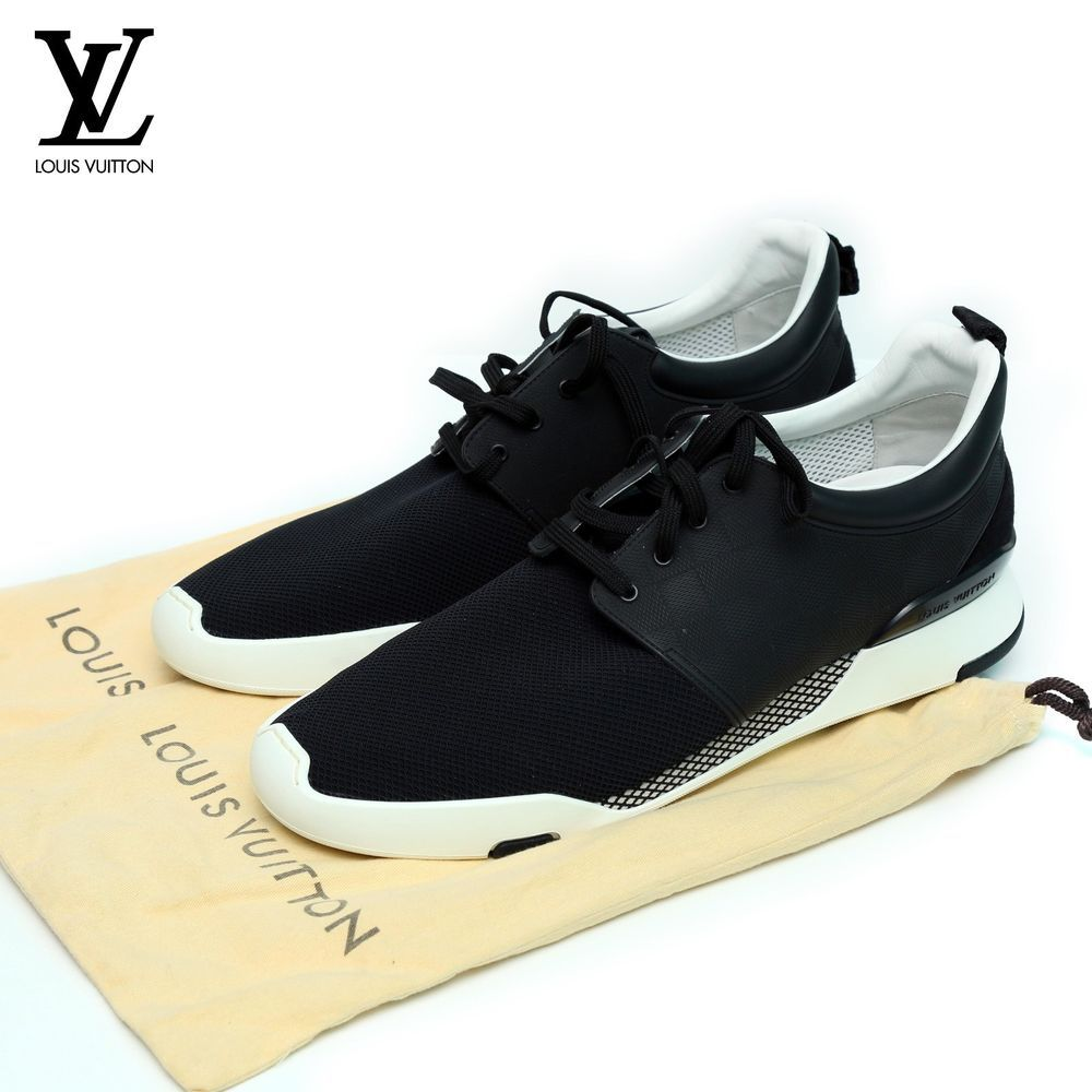 e1a7fd7283fb UNUSED LOUIS VUITTON Black   White Sports Running Jogger Lace Up Sport  Shoes Men  LouisVuitton  RunningCrossTraining