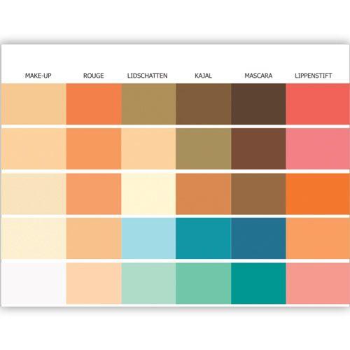 Make Up Pass Farbpass Fruhlingstyp 30 Farben Make Up Farbkarte