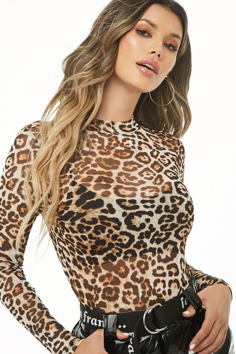 74c5b6b755 Sheer Leopard Print Bodysuit CollectiveStyles.com ♥ Fashion