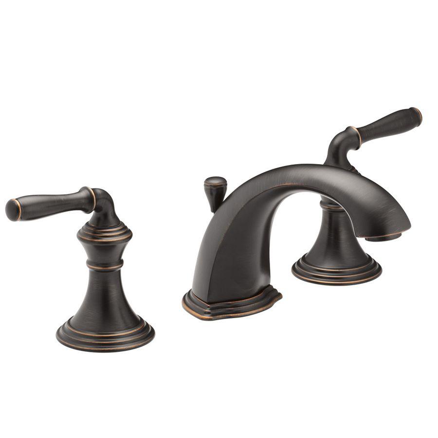 KOHLER Devonshire Oil-Rubbed Bronze 2-Handle Widespread WaterSense ...