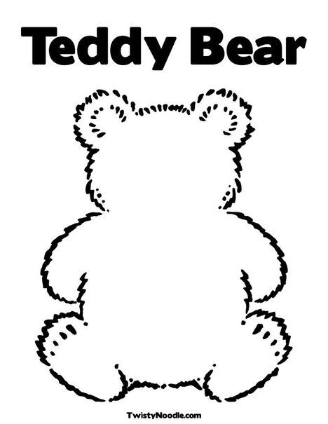 Blank Teddy Bear Coloring Page Classroom Ideas Pinterest