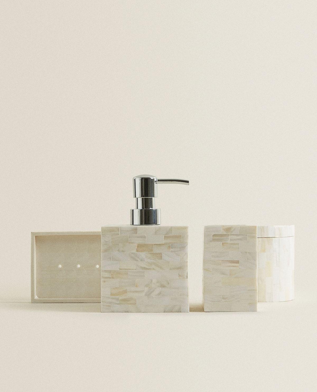 Mother Of Pearl Bathroom Set Bathroom Sets Bathroom Accessories Wooden Bathroom Accessories