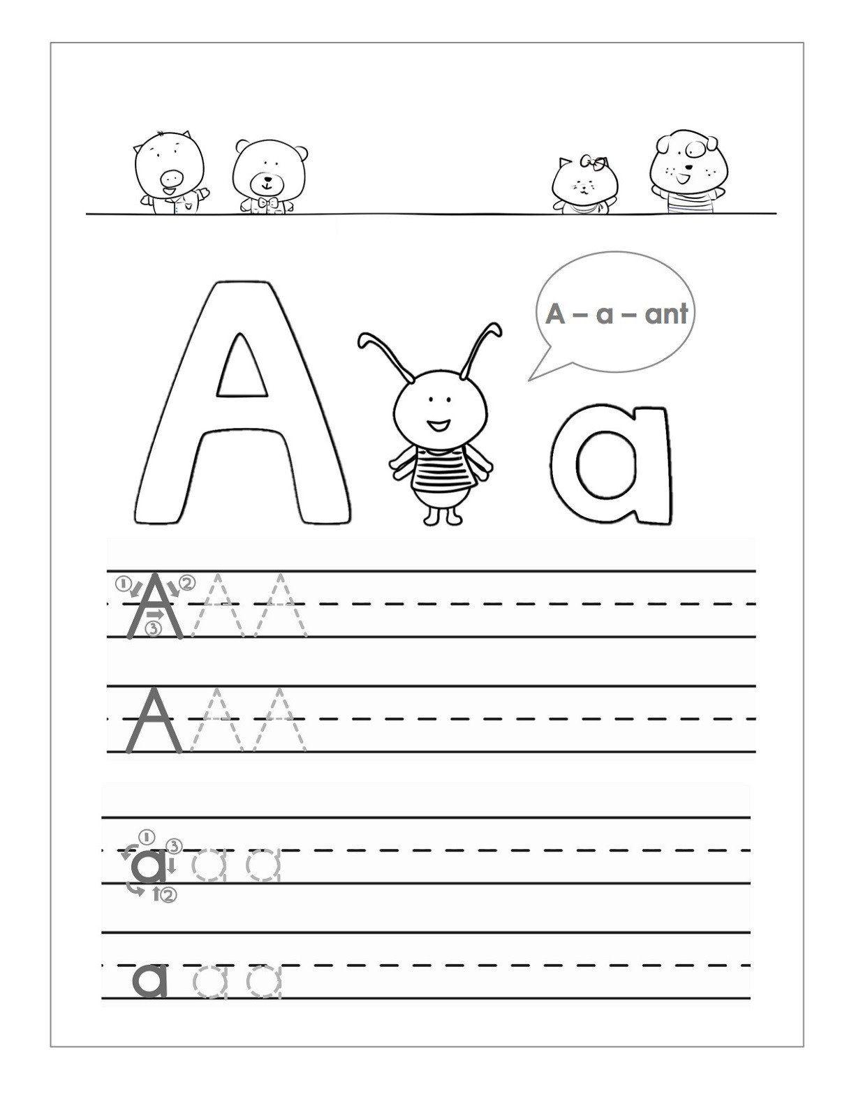 Free Handwriting Worksheet For Kindergarten Free Handwriting Worksheets For Kids In 2020 Handwriting Worksheets For Kids Alphabet Practice Sheets Abc Worksheets