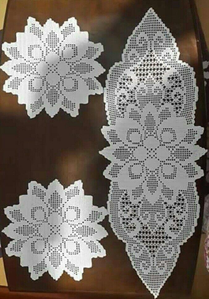 Pin von Marluce Ferreira auf Crochê | Pinterest | Deckchen ...