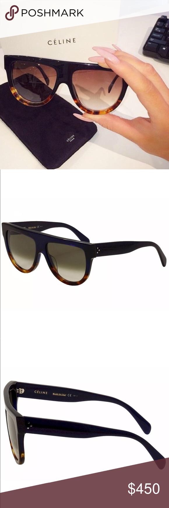 bc8a56cafcf0 Celine Sunglasses Celine Women s CL 41026S 41026 S QLT Z3 Blue Havana