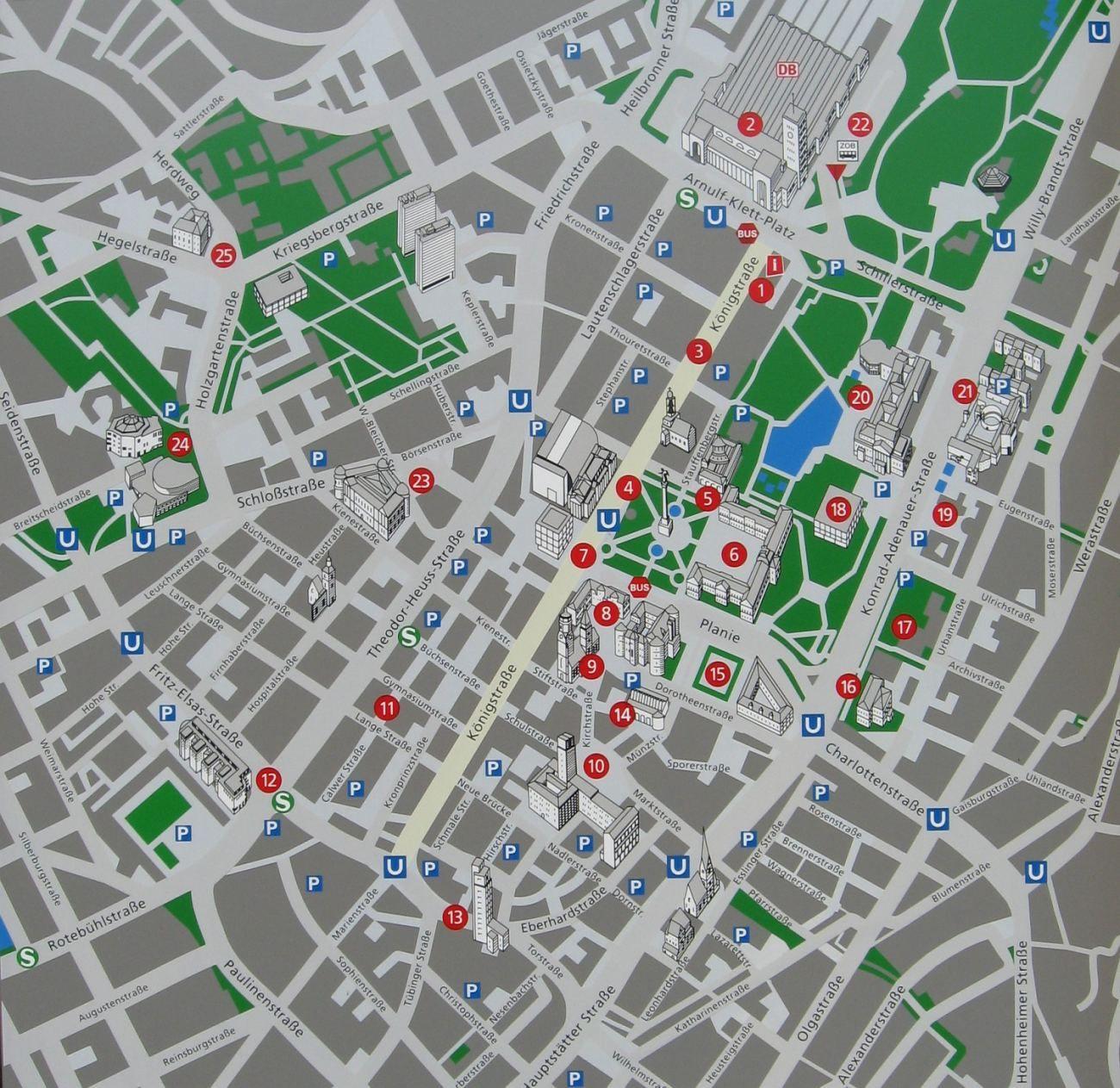 Cartina Germania Stoccarda.Mappa Di Stoccarda Cartina D Stoccarda Stoccarda Stoccarda E