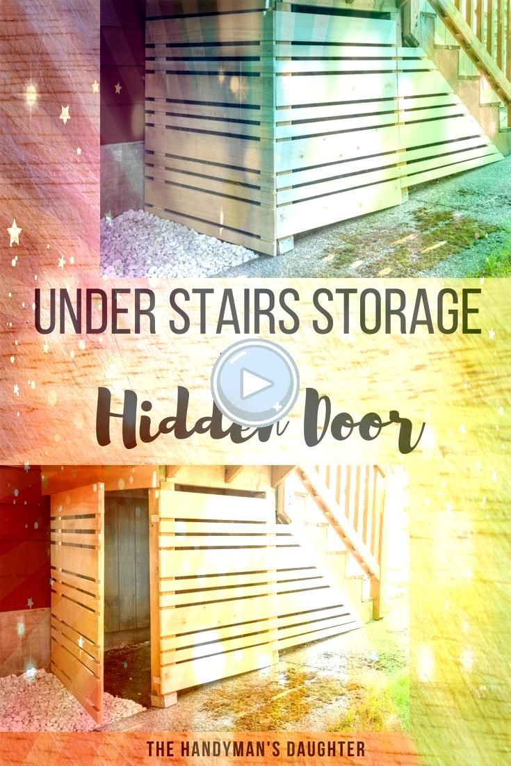 area under our deck stairs was a magnet for clutter and leaves Check out how I created storage under the deck with a removable fence panel This hidden door makes it easy...