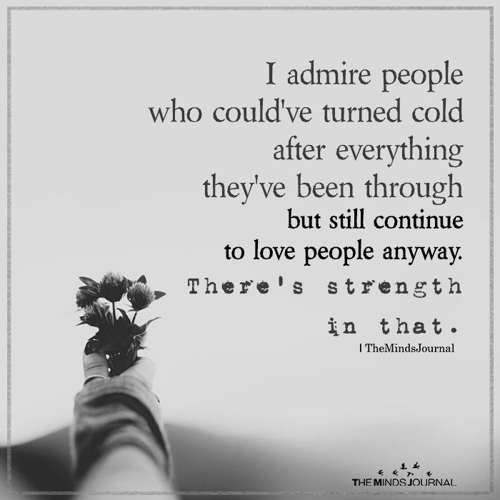 I Admire People