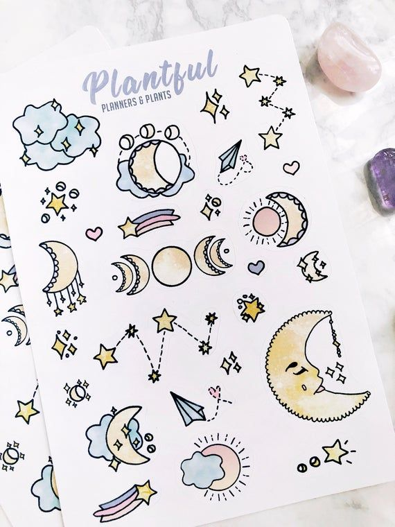 Moon Magic Stickers | Decorative Bullet Journal / Planner Stickers