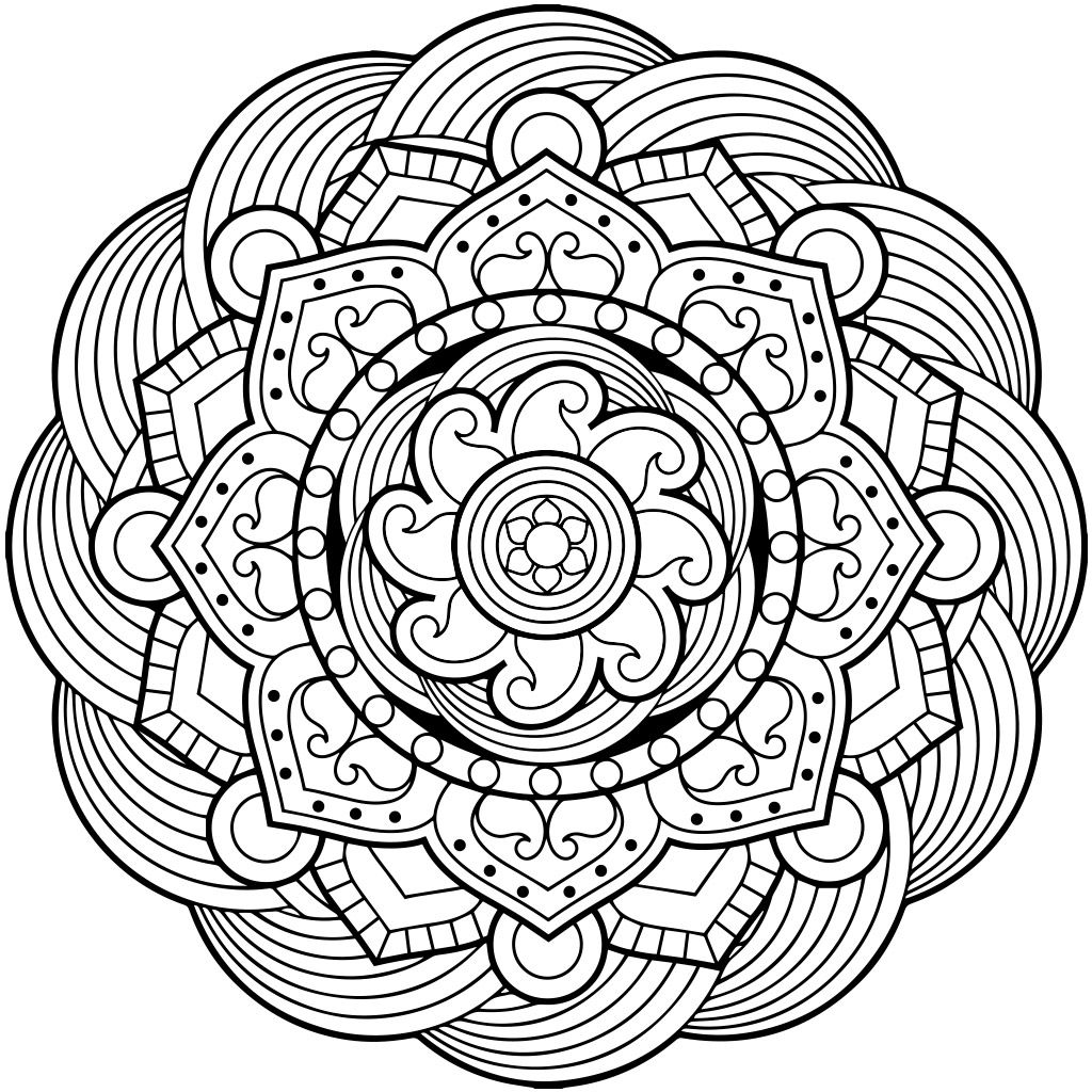 Mystical mandala coloring pages - Mandala Coloring Pages For Adults For Android Ios And Windows Phone