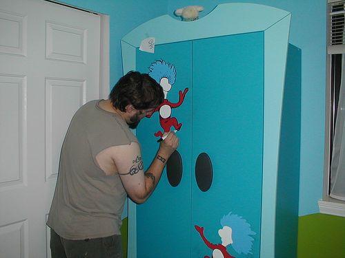 Dr Seuss Nursery   Finally Those Ikea Wardrobes Make Sense