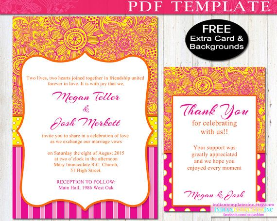 Diy Bollywood Party Invitation Bright By Indiantemplatesinc