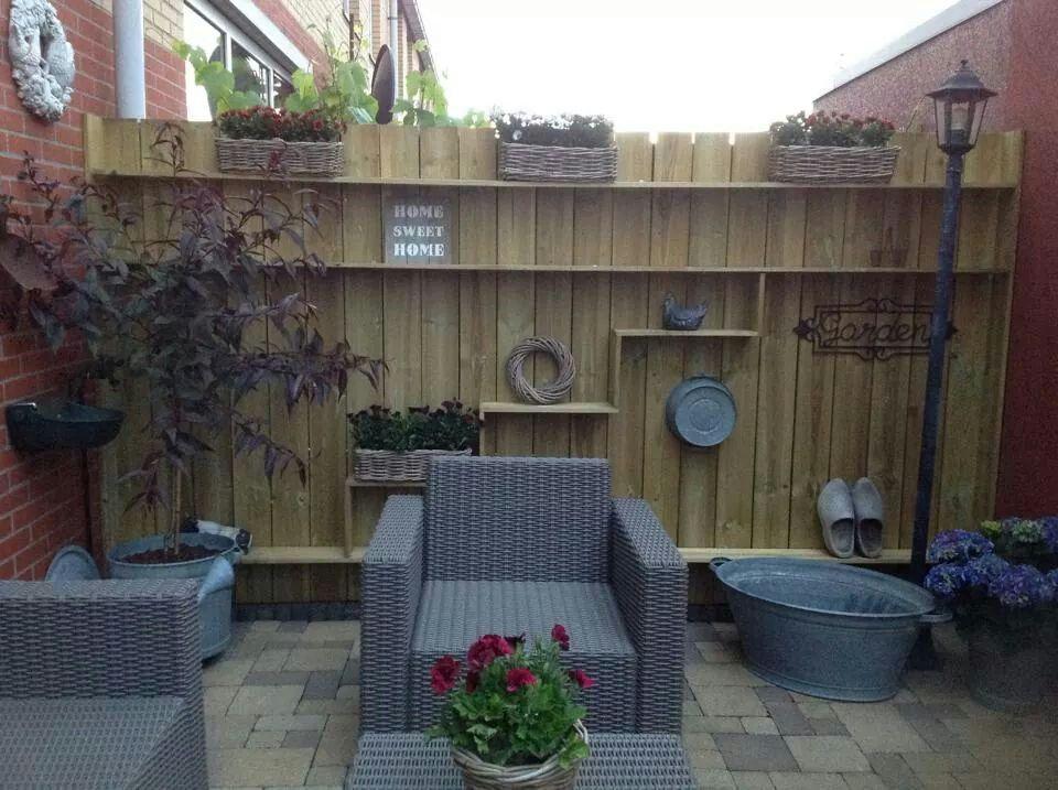 Schutting for the home pinterest schutting tuin en for Decoratie schutting