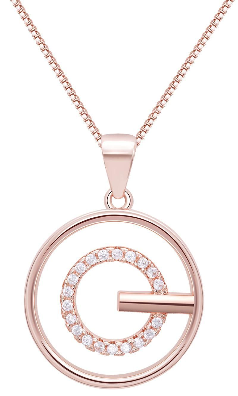 0a9316190 Rose Gold Plated 925 Sterling Silver Chain Zirconia Diamond Circle Pendant  Necklaces Made With Swarovski Elements Women Fine Jewelry Set Online with  ...