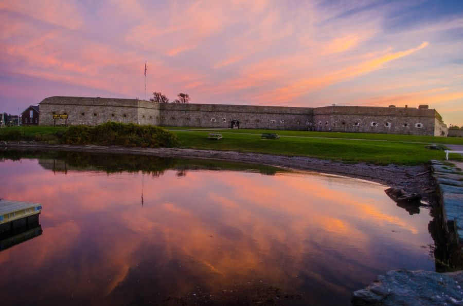 Fort Adams at sunset by Raymond Deuso on 500px