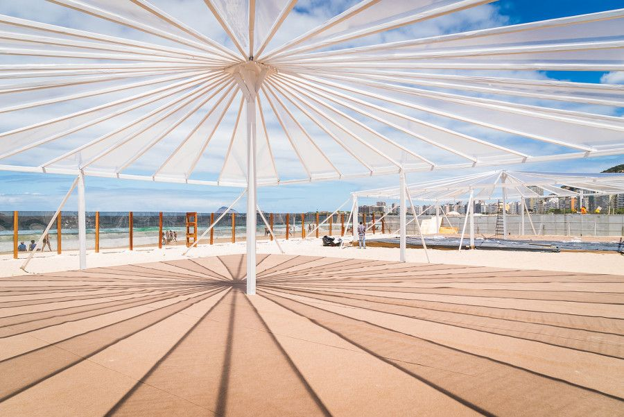 A #TEDGlobal event tent in Rio with a view of the ocean. Photo: James Duncan Davidson