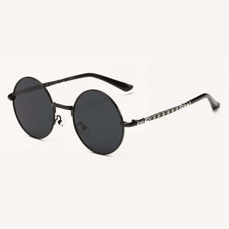 Children\'s Polarized Metal Round Frame Sunglasses Black/Grey (3yr ...