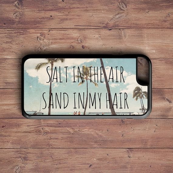 Salt in the air Sand in my hair Iphone case by RetroLoveCases