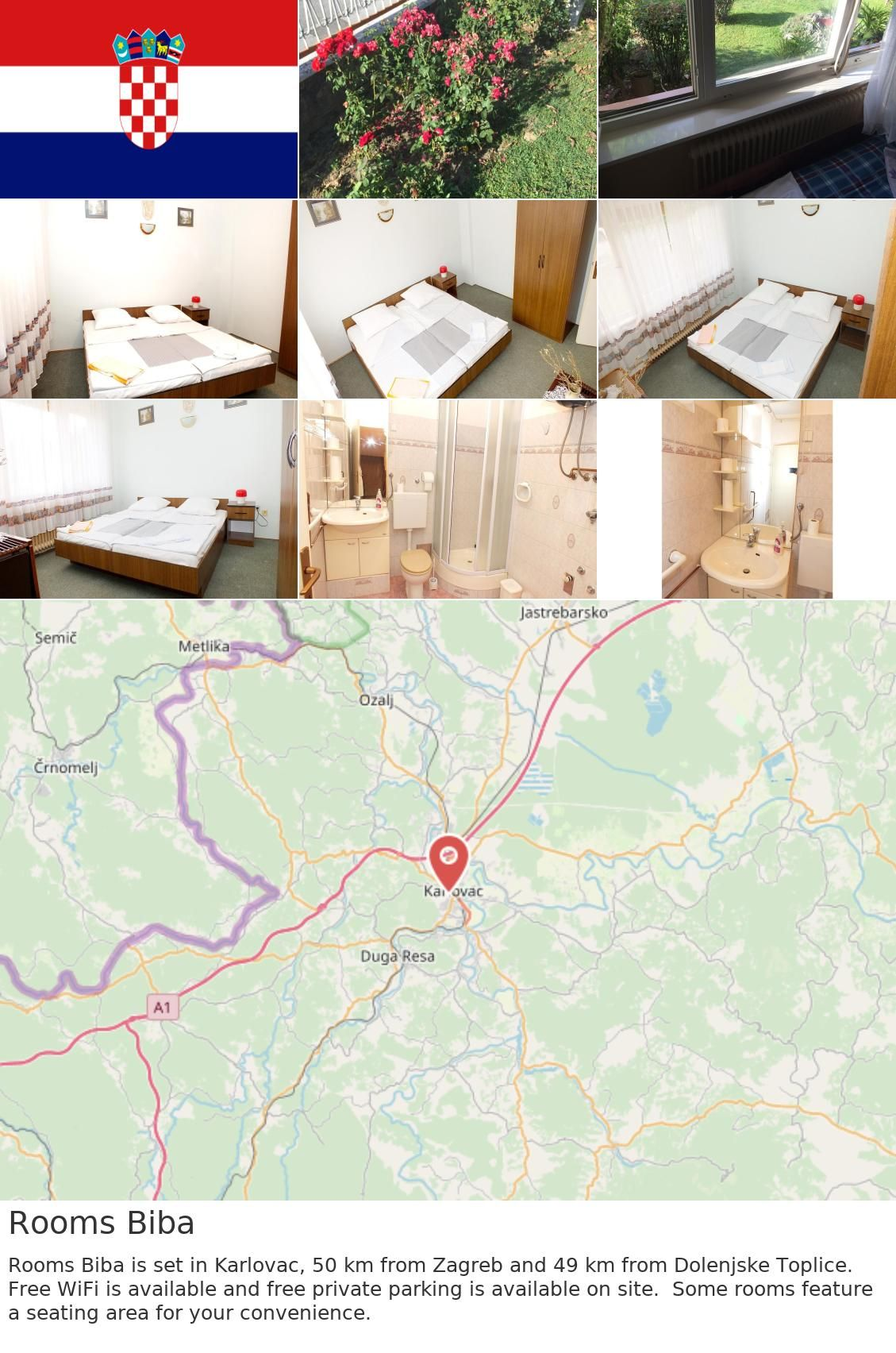 Europe Croatia Karlovac Rooms Biba Rooms Biba Is Set In Karlovac 50 Km From Zagreb And 49 Km From Dolenjske Toplice Free Wifi Is Available And Free Privat