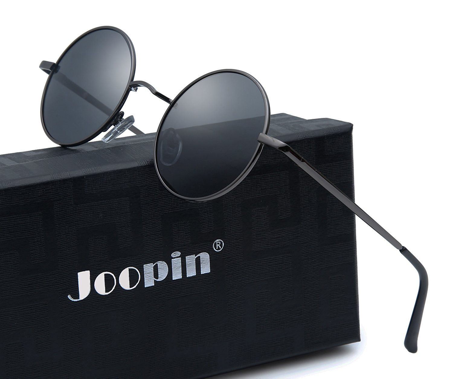 5152c99d8c Joopin Round Retro Polaroid Sunglasses Driving Polarized Glasses Men  Steampunk