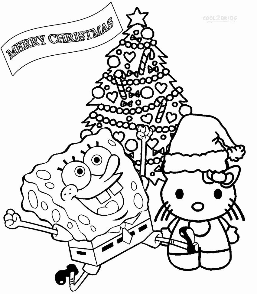 Christmas Coloring Page For Kids Luxury Printable Nickelodeon Colorin Kids Christmas Coloring Pages Printable Christmas Coloring Pages Christmas Coloring Pages