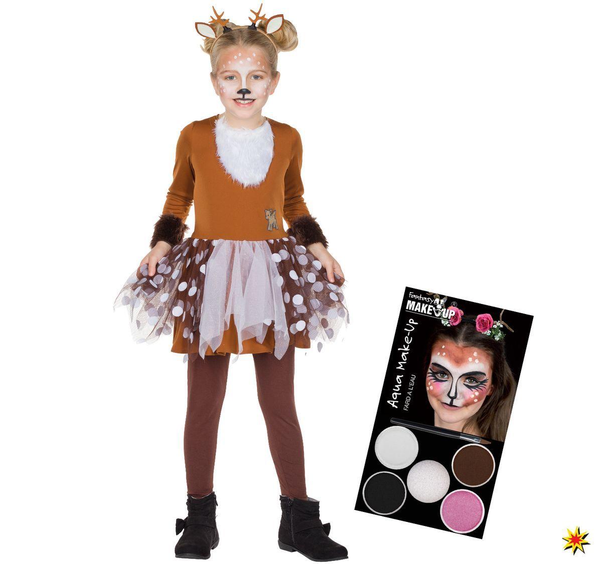 Kinder Kostum Rehkitz Bambi Inkl Aqua Schminke Kinderkostume
