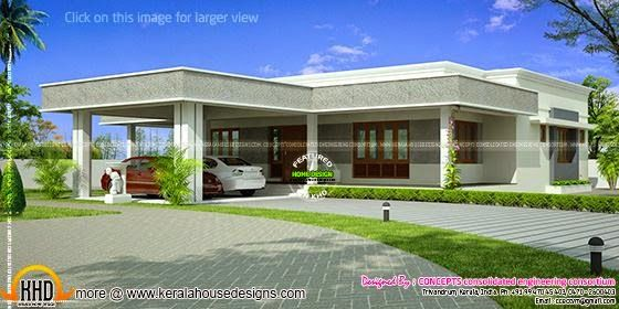 July 2015 Flat Roof House Designs Flat Roof House Single Storey House Plans