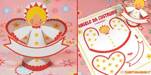 Angeli di carta fai da te da stampare ritagliare e for Angeli da colorare stampare