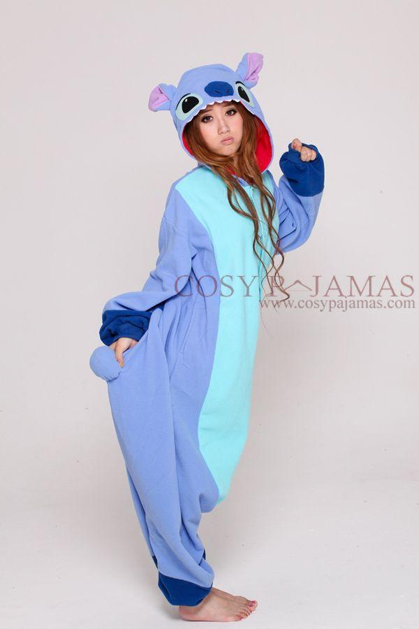 1a0324b32 Disney Stitch Onesie Kigurumi Pajamas