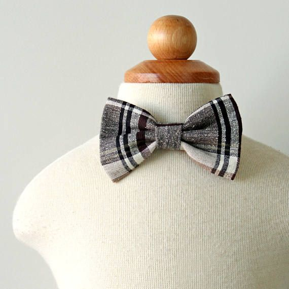 Plaid Bow Tie Holiday Bow Tie Thanksgiving Bow Tie Cotton