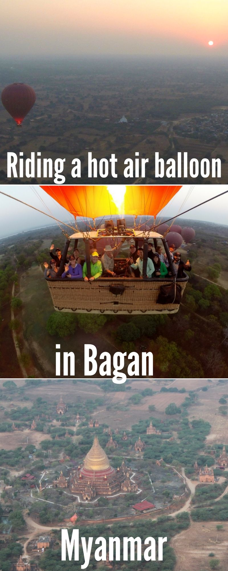 Riding A Hot Air Balloon In Bagan Myanmar Asia Travel Myanmar